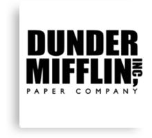 Dunder Mifflin Paper Company Logo Canvas Print