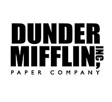 Dunder Mifflin Paper Company Logo Photographic Print