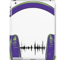Headphones - Green and Blue iPad Case/Skin