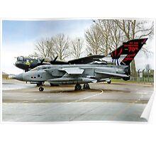 Panavia Tornado GR.4 ZA412 617 Sqn Poster