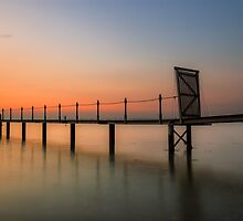 Sunset Pier by manateevoyager