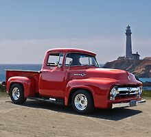 1956 Ford F100 at Pigeon Point  by DaveKoontz