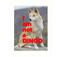Tom Wheeler is a Dingo Art Print