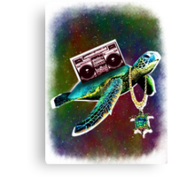 Swaggy Space Turtle Canvas Print