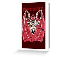 The Tyranid Hive Tyrant - Devour Greeting Card