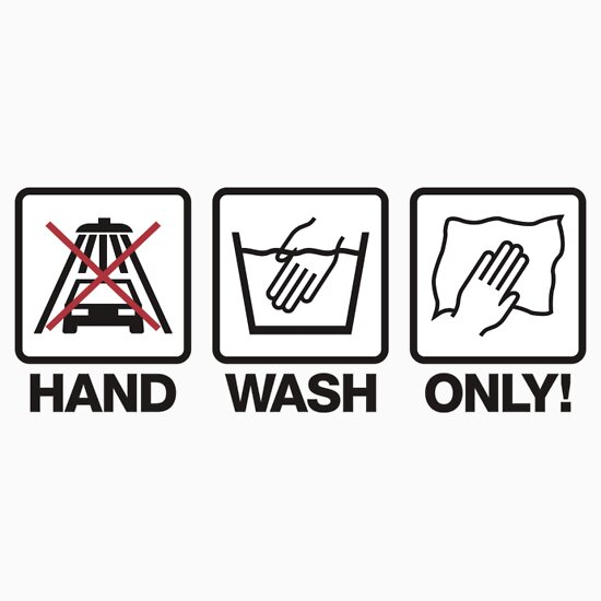 Quot Hand Wash Only 1 Quot Stickers By Plandesigner Redbubble