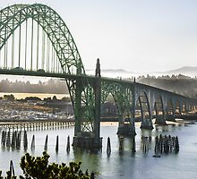 Ghosty Morning In Newport Oregon by Diego  Re