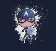 Chibi Captain America by myfluffy