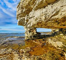 Rock Arch at Cave Point by Kenneth Keifer