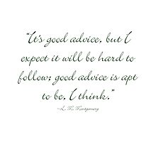 It's good advice, but... by Amantine