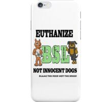 EUTHANIZE B.S.L NOT INNOCENT DOGS iPhone Case/Skin