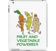 FRUIT AND VEGETABLE POWERED ATHLETE iPad Case/Skin
