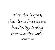 It's Lightening That Does The Work by Amantine