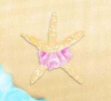 Beach Starfish with Tutu by ArtsyRosey