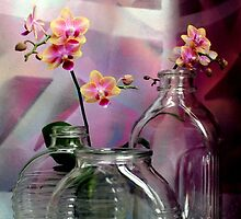 Still Life With Ribbed Glass by Michael May