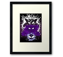 Gastly, Haunter, and Gengar Splatter Framed Print