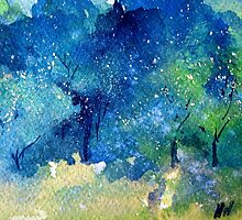 Tree Series - Trees in the Orchard 2 RH Section only by Heatherian