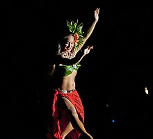 Old Lahaina Hula Dancer by Leanne Churchill