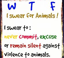 I swear for Animals by justice4mary