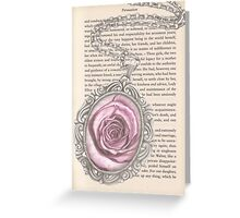 Silver & Rose Greeting Card