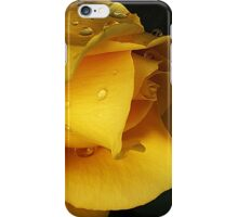 Yellow drops iPhone Case/Skin