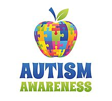 Autism Awareness Photographic Print