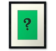 The Riddler's Puzzle  Framed Print