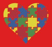 Autism Awareness Heart Kids Clothes