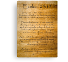 Ezekial 25:17 (Reliced Background) Canvas Print