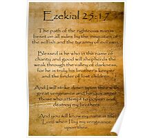 Ezekial 25:17 (Reliced Background) Poster