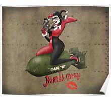 Harley Quinn War Pin Up Poster