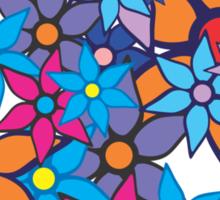 Retro Floral Pattern Sticker