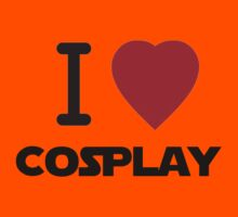 I Heart Cosplay Black Text (Clothing & Stickers) Kids Clothes