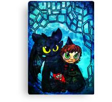 Dragon and Rider Canvas Print
