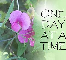 One Day at a Time Sweet Peas by serenitygifts