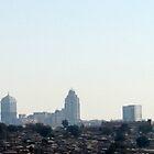 Johannesburg skyline by Antionette