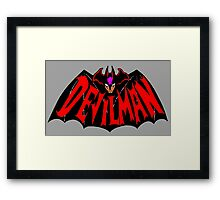 Beware, the (Goddamn) Devilman! Framed Print
