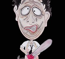 Horror Movie Butcher Caricature by MMPhotographyUK