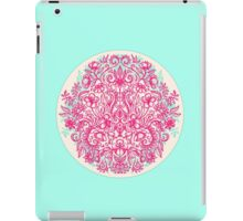 Spring Arrangement - floral doodle in pink & mint iPad Case/Skin