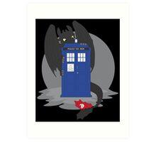 Toothless TARDIS Art Print