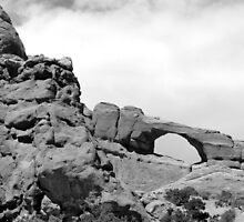 Window Arch - Arches National Park BW by marybedy