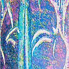 Incised Blue and Purple by Martha Sherman