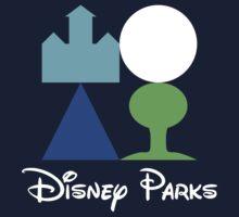 Disney World Parks Minimalist with Words Kids Clothes