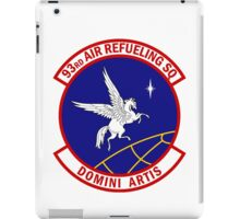 93rd Air Refueling Squadron - Domini Artis - Masters Of The Art iPad Case/Skin