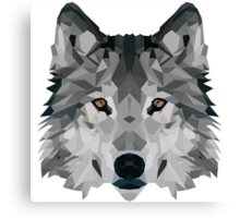 Crystalline Wolf Canvas Print