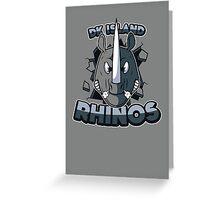 DK Island Rhinos Greeting Card