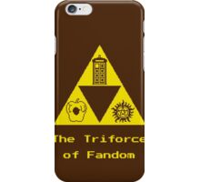 The Triforce of Fandom (Superwholock) iPhone Case/Skin