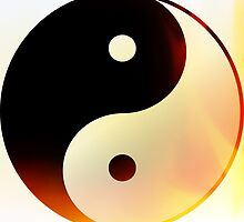 Ying and Yang Flame by Roz Barron Abellera
