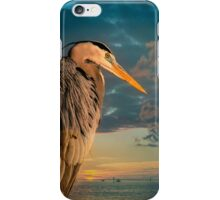 Great Blue Heron and Blue sunset iPhone Case/Skin