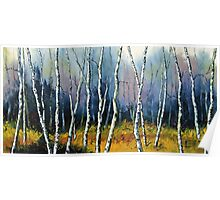 Winter Reverie by Lisa Elley. Palette knife painting in oil  Poster